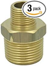 """1//4x1//8/"""" Male x Male BSP Brass Hex Reducing Nipple - 100x80mm 8x6mm 4x3/"""""""