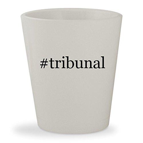 Tribunal   White Hashtag Ceramic 1 5Oz Shot Glass