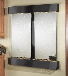 Adagio Cottonwood Falls Wall Fountain Silver Mirror Stainless Steel - CFS2040