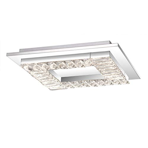Quoizel PCSS1616C Passion Crystal LED Flush Mount Ceiling Lighting, 28 Watt, Polished Chrome (3