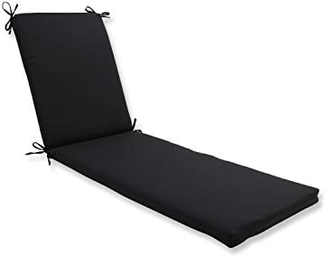 Pillow Perfect Outdoor/Indoor Fresco Black Chaise Lounge Cushion 80x23x3