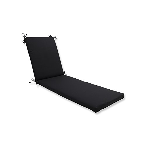 Pillow Perfect Outdoor/Indoor Fresco Black Chaise Lounge Cushion ()