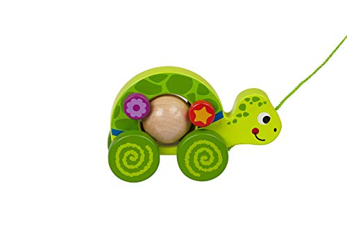 TOYSTER'S Pull Along Turtle Walking Toy | Wood Animal Walker Toys for Boys and Girls | Gifts for Toddler Babies 1 Year Old and Up | (PU300)