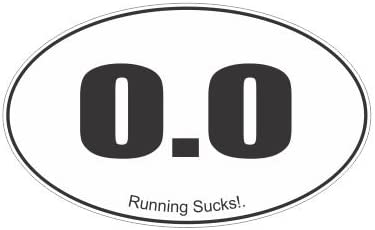Slap-Art 0.0 Running Sucks! Funny Vinyl Decals Bumper Stickers