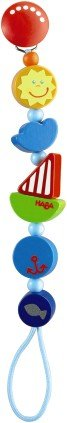 HABA Ship Ahoy Wooden Pacifier Chain (Made in Germany) - Haba Pacifier Chain