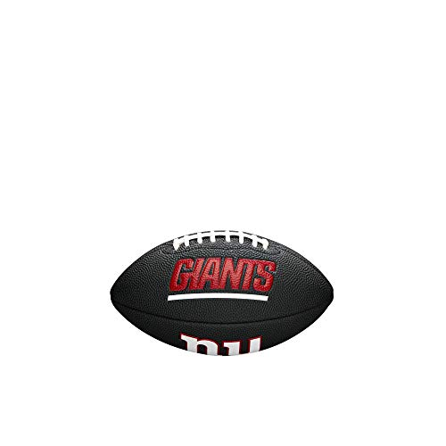 - NFL Team Logo Mini Football, Black - New York Giants