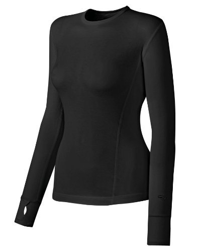 Duofold Women's Mid Weight Varitherm Thermal Shirt, Black, Large (Thermals Varitherm)