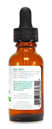 Vitamin E Oil By GreatFull Skin, 100% Natural 10000 IU, 1 Ounce