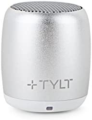 TYLT Mini Boom Bluetooth Speaker Silver 3W Output on Bluetooth 4.2 Up to 4 Hours of Playback on One Charge from This Portable Wireless Speaker