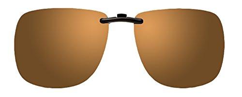 Montana Eyewear Polarized Clip-On Sunglasses C3B in Gold Mirror/Amber - Fitover Sunglasses Polarized