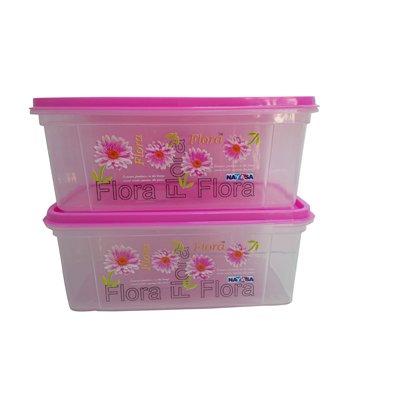 Nayasa Trendy Bread Box – 2000 ml Plastic Food (Pack of 2, Pink) (2.00)