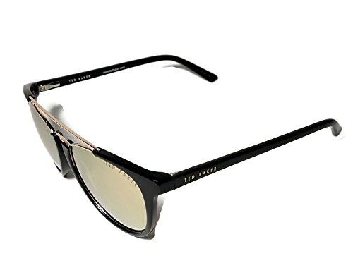 Ted Baker B697 Black Gold Retro Small Frame - Sunglasses Baker Ted