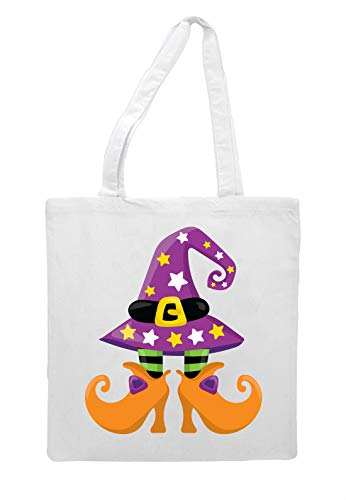 And Legs Tote Five Witch Bag Shopper Halloween Feet White Hat Zn4Aq5w5
