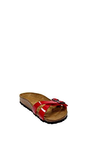 Birkenstock Almere - Zuecos para mujer Rojo
