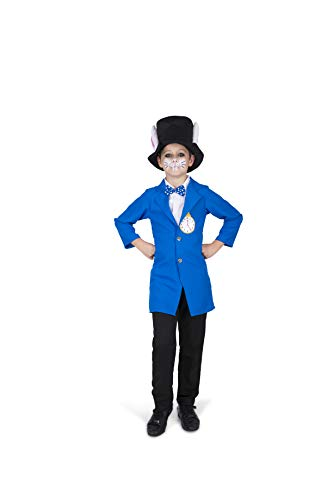 Fairytale Rabbit Costume Set - Halloween Boys Storybook Blue White Hare, Large -