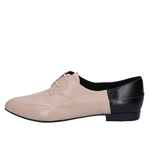 Mujer Beige Megumi Zapatos Cuero Ochi Elegantes RtgqSt
