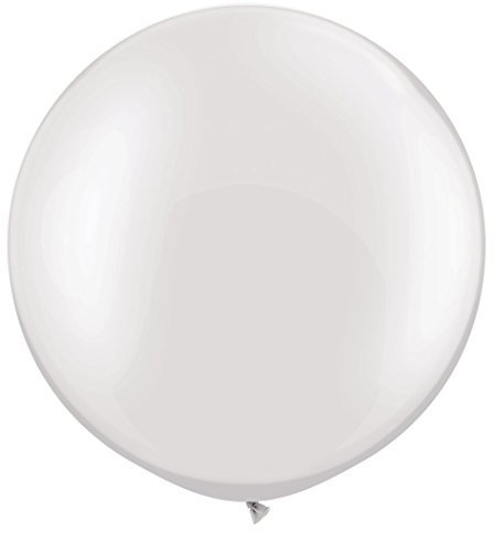 Qiyun 100 Pieces 36 Inch Latex Thick White Balloons for Ceremony Party Festival Decoration