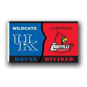 (NCAA Kentucky - Louisville 3-by-5 Foot Flag with Grommets - Rivalry House Divided)
