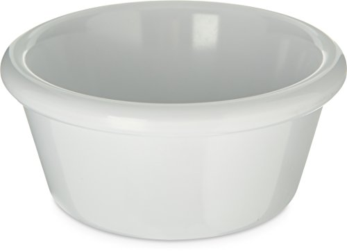 Carlisle S28602 Melamine smooth Ramekin, 6 oz. Capacity, White (Case of 48) by Carlisle