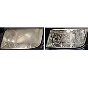 HEADLIGHT LENS CLEANER REPAIR POLISH RESTORATION PAD Removes Haze and Yellowing in 2 Minutes or Less