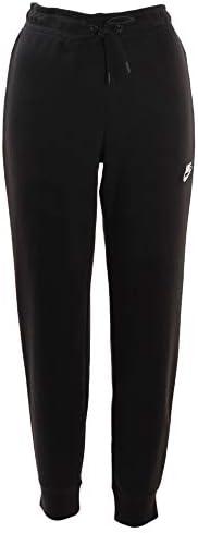 ウィメンズ フレンチテリー エッセンシャル タイト パンツ CJ7713 010 ブラック/ホワイト XL