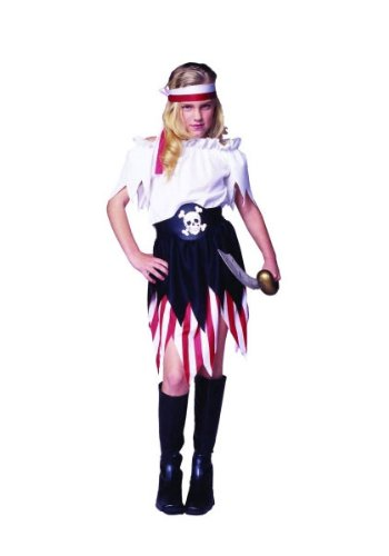 RG Costumes Pirate Wench Costume, Red/Black/White, Small