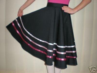 Rad Character falda con negro de estilo rosa lazos, negro: Amazon ...