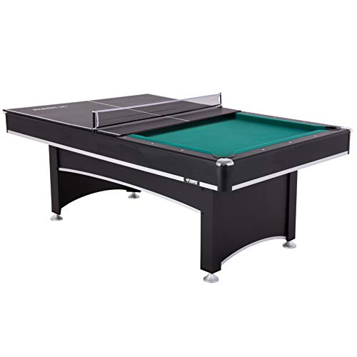 Triumph Pool Table - Triumph Phoenix 7' Billiard Table with Table Tennis Conversion Top for a Game of Pool or an Action-Packed Table Tennis Match