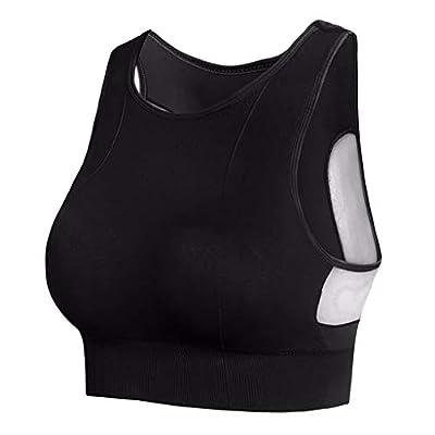 RAINED-Womens Basic Crop Tanks Racerback Sports Tops Slimming Underwear Sport Bras Padded Seamless Yoga Gym Workout Bra