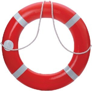 Dock Edge 56-203-F, Dolphin Life Ring Buoy S.O.L.A.S. 30'', Orange USA 1/Case by Dock Edge