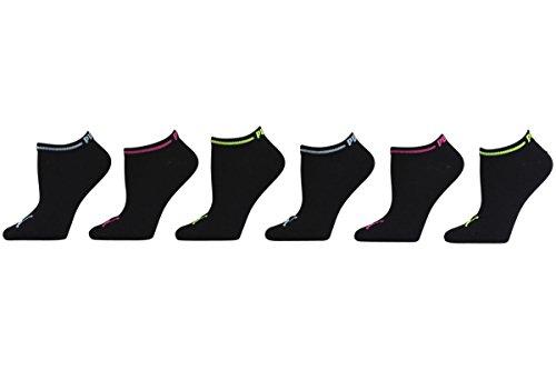 Puma Women's 6-Pack Black/Blue Low-Cut Athletic Socks Sz: 9-11 Fits 5-9.5