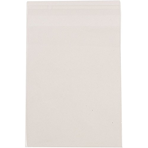 ves with Self Adhesive Closure - A6 - 4 15/16 x 6 9/16 - Clear - 100/Pack ()