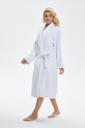 Beryris Luxury Bathrobe for Women - Women s Terry Cloth Robe in Bamboo  Viscose 0e5572662