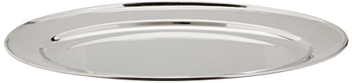 Winco OPL-16 Stainless Steel Oval Platter, 16-Inch by 10.25-Inch ()