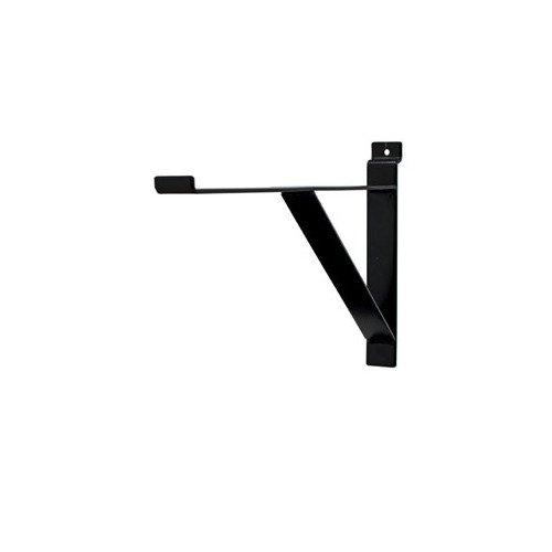 Pack of 8 New Retails Black Contemporary Shelf Bracket for Slatwall 12''long by Shelf Bracket for Slatwall