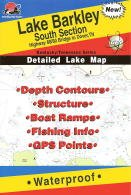 Lake Barkley South Section Fishing Map (Kentucky/Tennessee Fishing Map Series, L113) (Best Fishing Spots In Kentucky)