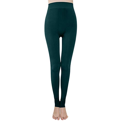 Price comparison product image Sunggoko Exercise Women's Trousers Solid Color Elastic Sports Pants Fitness Legs One Piece Leggings Green