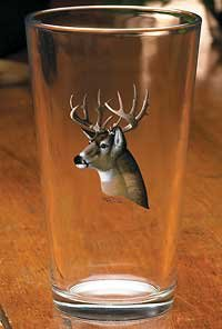 (Whitetail Deer Portrait Mixer Glasses by Michael Sieve)