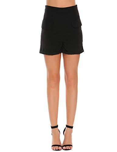 l Anchor Rockabilly High Waist Women's Shorts Hotpants (Rockabilly Anchor)