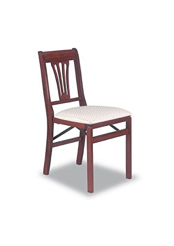 Urn Back Folding Chair In Warm Cherry Finish – Set Of 2 Overview
