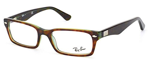 Ray-Ban Men's RX5206-2445 	tortoise Rectangular 52mm - Ray Ban Latest Styles