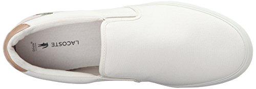 Lacoste Men's Jouer Slip-On 316 1 Cam Fashion Sneaker, White, 9 M US