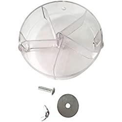 Jim-Hugh Pet Bird Foraging Ball Parrot Feeder Cage Food Plate Wheel Mechanism Pendant Rotating Acrylic Toys Animals