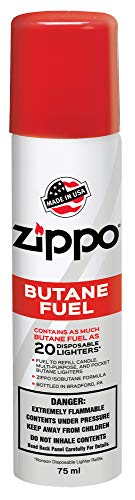- Zippo Butane Fuel, 42 gram Packaging may vary.