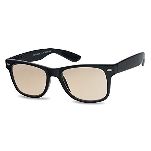 Classic Retro Anti Eyestrain Blue Light Blocking Reading Computer Eye Glasses Rx Strengths 1.00 Thru 3.00 (Black Frame, ()