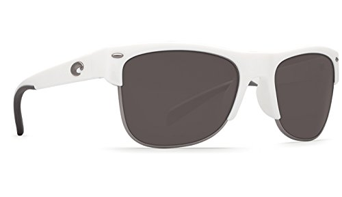 Costa Del Mar Pawley's Sunglass, White/Gray - Costa Pawleys Sunglasses