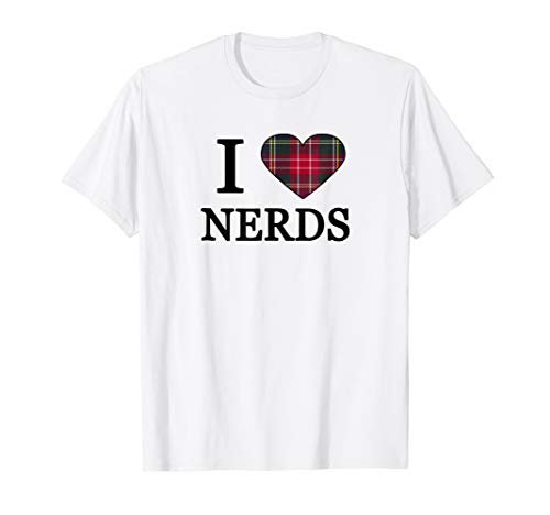(I Love Nerds Costume Shirt Royal Stewart Plaid)