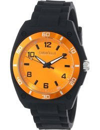 Caravelle New York Men's 45A112 Analog Display Japanese Quartz Black Watch