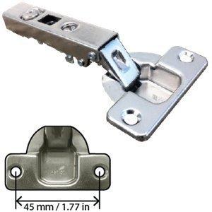 Euro Concealed Cabinet Hinge, Full Overlay, 110 Degree Opening, Nickel, - Overlay Concealed Cabinet Full Hinge