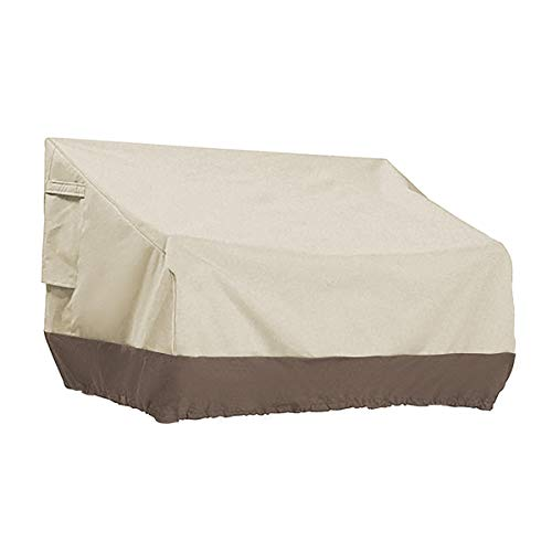 PHI VILLA Patio Bench Cover-Outdoor Loveseat Lounge Cover Water Proof, Medium